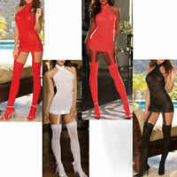 Sexy Women Lingerie Lace Night Dress Underwear Bodystocking Babydolls + G-string