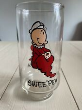 Vintage 1975 King Features Syndicate Coca-Cola Swee' Pea Glass: Pre-owned