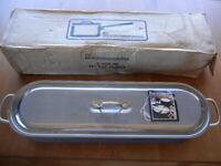 """Vintage Calphalon Anodized Aluminum 24"""" Long Fish Poacher Steamer w/Lid G1424 HC"""