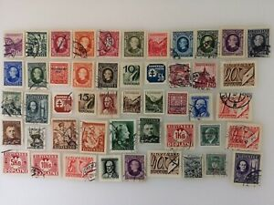 50 Different Slovakia Stamp Collection - Pre 1945