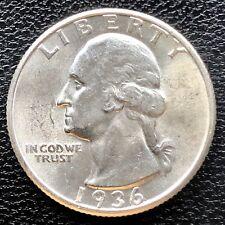 1936 Washington Quarter Dollar 25c High Grade BU #19811