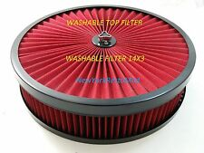 AIR CLEANER WASHABLE RED FILTER Edelbrock Carburetor Chevy Ford Mopar NEW