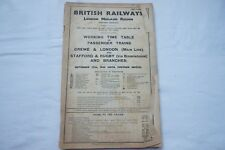 1948 LMS Working Timetable London Midland Scottish Section 5 Stafford Rugby