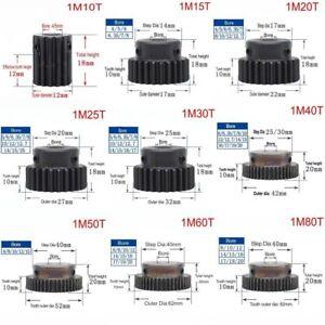 High Precision 1 Mod 10T-150T Spur Gear 45# Steel Pinion Gear With Step x 1Pcs