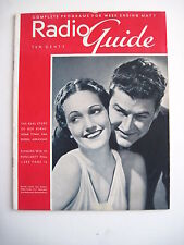Great 1938 Radio Guide Magazine w/ Dorothy Lamour & Eleanor Fisher on Covers *