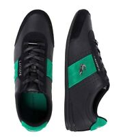 Lacoste Men Shoes Oreno 0120  Black Green Leather Fashion Casual Sneakers NEW