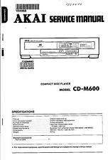 Akai Original Service Manual für CD-M 600