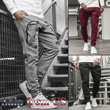 Men Casual Joggers Pants Sweatpants Cargo Combat Loose Active Sports Trousers