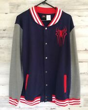 THE AMAZING SPIDER-MAN #2 VARSITY LETTERMAN SWEAT JACKET ADULT 14