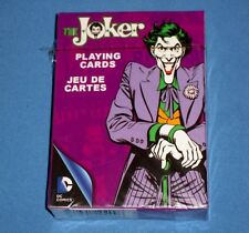 NIP The Joker Retro Playing Cards Poker Size Deck DC Comics Officially Licensed!