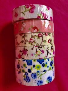 6 Washi Tape Fiori (6 Fantasie)