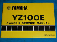 1978 78 YAMAHA YZ100 YZ 100 SHOP SERVICE REPAIR MANUAL
