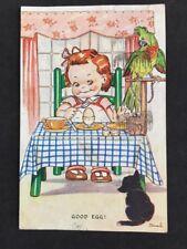 Vintage Postcard: Comic Artist Signed: Dinah #A399: Good Egg! Posted 1944