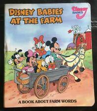 Disney Babies At The Farm Board Book 1990 Patricia Lakin