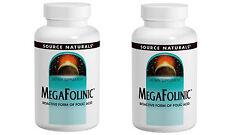 2 X MegaFolinic - Source Naturals 800mcg 120 Tablets