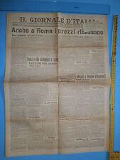 6/7/1919 IL GIORNALE D'ITALIA - Anche a Roma i prezzi ribassano - 304