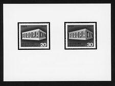BRD ANKÜNDIGUNGSFOTO 1969 583/584 EUROPA CEPT OFFICIAL PHOTO RARE!! /m1063