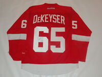 DANNY DEKEYSER SIGNED RBK DETROIT RED WINGS HOME JERSEY LICENSED JSA COA