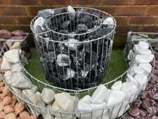 More details for garden gabion straight curved planter bed rock pot basket galvanised steel uk