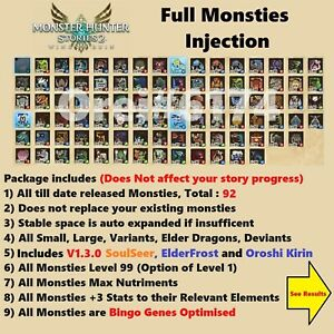 Monster Hunter Stories 2, Monsties Injection(Switch Save Edit), NOT A GAME