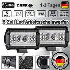 2X 168W LED Arbeitsscheinwerfer Offroad Scheinwerfer Traktor Bagger SUV 12V 24V