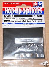 Tamiya 53284 5mm Aluminum Ball Connector (10 Pcs.) (HotshotFox/Thunder Shot)