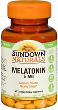 Sundown Naturals Melatonin 5 mg Tablets 90 ea (Pack of 2)