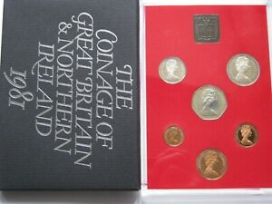 1981 Royal Mint 6 coin Proof set