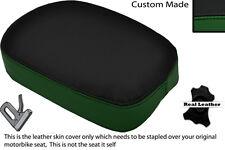 BLACK & GREEN CUSTOM FITS TRIUMPH AMERICA BONNEVILE SQUARE REAR SEAT COVER