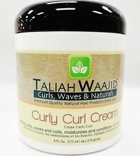 TALIAH WAAJID CURLY CURL CREAM 6oz CREAM FOR COILS AND CURLS TO MOISTURIZE DEFIN