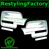 09-14 Ford F150 Truck Chrome Mirror with Turn Light Signal Full Cover - a Pair