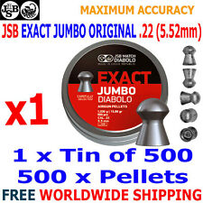 JSB EXACT JUMBO ORIGINAL .22 5.52mm Airgun Pellets 1(tin)x500pcs