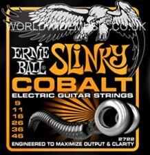 1 Set of Ernie Ball Hybrid Slinky Cobalt 9 - 46 Electric Guitar Strings (2722)