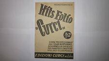 HITS FOLIO CURCI N. 2 1948 SPARTITO VIOLINO FISARMONICA GUIDA CLUB NOTTURNO