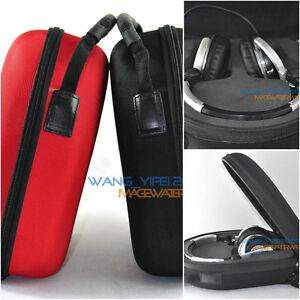 Black Red Hard case Storage Bag For Pioneer HDJ 500 1500 DJ Headphones