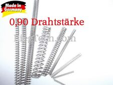 Druckfeder, Feder, Federstahl DIN 10270-3 Nichtrostender Edelstahldraht 0,90 mm