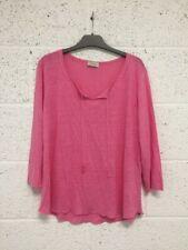 Wrap London 100% Linen Blouse - Pink Casual Top - UK 18