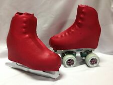 Rustic Red Wetlook Boot Covers for RollerSkates and Ice Skates  SMALL ONLY