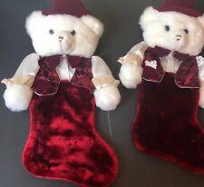 Tb Trading Co Christmas Big Head Bear 24� Plush Season Greetings Stocking Lot