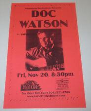 DOC WATSON Concert Handbill / ATLANTA Variety Playhouse  Nov. 20, 1998  !!