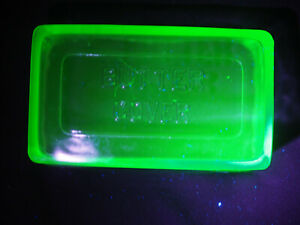 Vintage Depression GLASS  Uranium GREEN 1 Lb Butter Dish Cover only GLOWS Hot