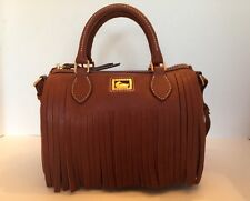 Dooney & Bourke Abby Satchel Brown Genuine Leather Gold Hardware Small