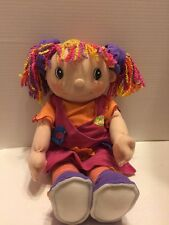 "Zapf Creations Maggie Raggies Singing Doll 17"" Soft Plush Poseable"