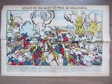 GRANDE IMAGE EPINAL 1880 ASSAUT DE MALAKOFF ET PRISE DE SEBASTOPOL 1855