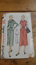 VINTAGE SIMPLICITY LADIES BUTTON UP DRESS PATTERN 3416 SIZE 18 FREE SHIPPING