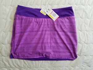 1 NWT UNDER ARMOUR WOMEN'S SKORT, SIZE: LARGE, COLOR: PINK/PURPLE (J78)