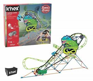 KNEX Twisted Lizard Roller Coaster Building Set with Ride it App 7+ Toy Build