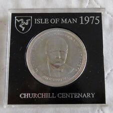 ISLE OF MAN 1974 WINSTON CHURCHILL CENTENARY CROWN - cased