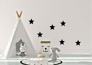 Various size Stars Wall Stickers Kid Art Nursery Bedroom Vinyl Decal Decoration