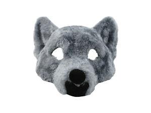 Adult Big Bad Wolf Plush Half Face Mask Animal Halloween Costume Accessory